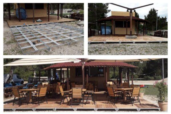 Modularne montažno demontažne terase za kafiće i restorane